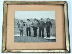 Framed Gelatin Silver Photograph of Five Men With Guns.