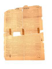 Newspaper, Germ. Prohibitionist (2 Pieces)