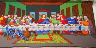 Beaded Tapestry, The Last Supper