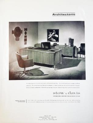 Advertising Poster, Stow & Davis Furniture, Architectonic