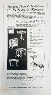 Advertisement, Grand Rapids Furniture Makers Guild
