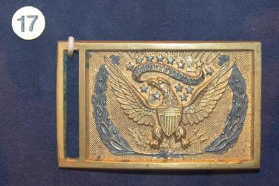 Buckle, Belt, U.S. Army Officer's, Charles W. Calkins