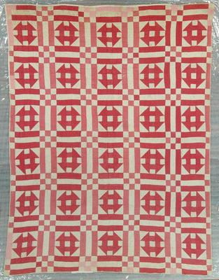 Pieced Quilt, Double Monkey Wrench, 9 Patch Design
