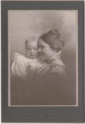 Photograph, Amanda Voigt Perkins With Child